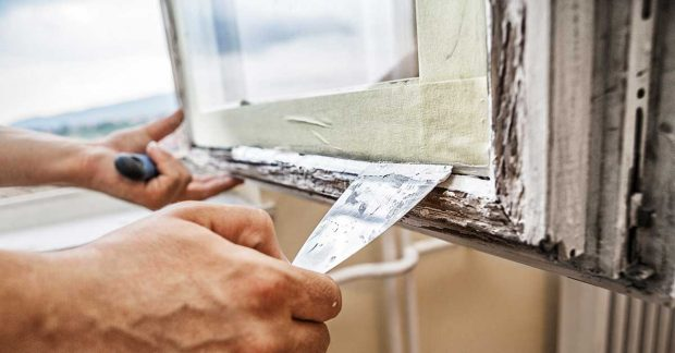 Paint Stripping a Window