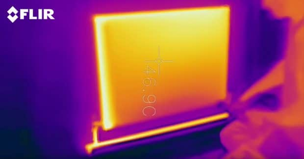 Radiator Thermal Image after Power Flush